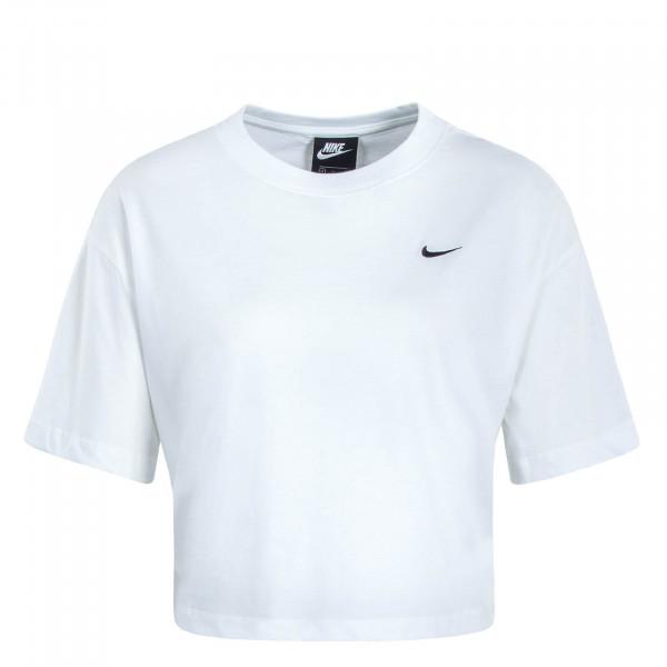 Damen T-Shirt Crop Essential White