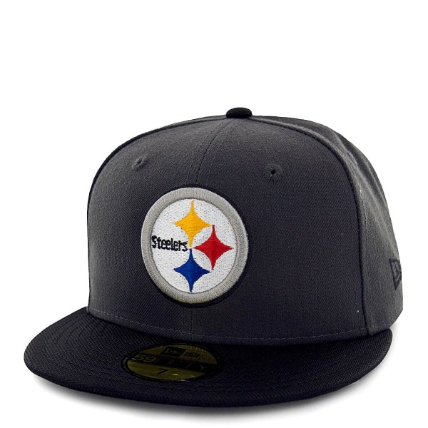 New Era Cap 59Fifty Steelers Grey Black