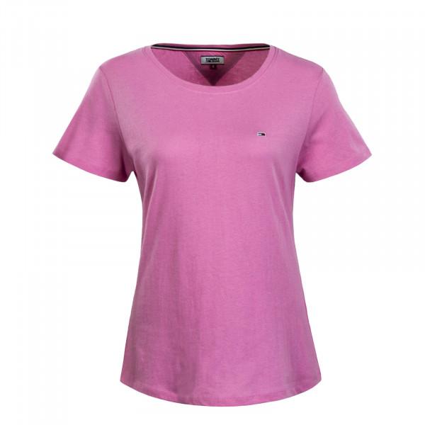 Damen T-Shirt Soft Jersey Rosa