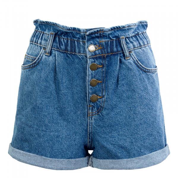 Damen Short - Onlcuba Life Paperbag - Medium Blue
