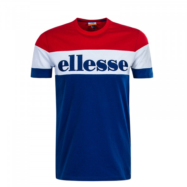Herren T-Shirt Punto Blue Red White