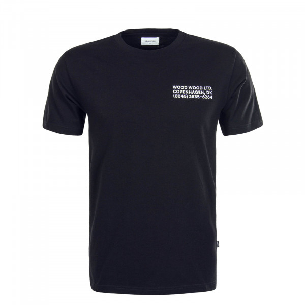 Herren T-Shirt Info Black White