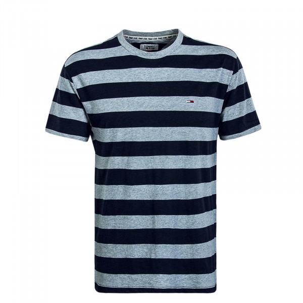 Herren T-Shirt 6542 Stripe Grey Navy