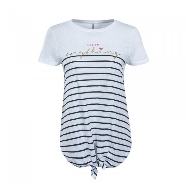 Damen T-Shirt  Bright Anything White Black