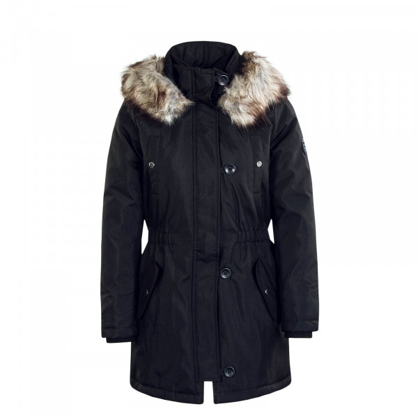 Damenmantel Iris Fur Winter Parka Black