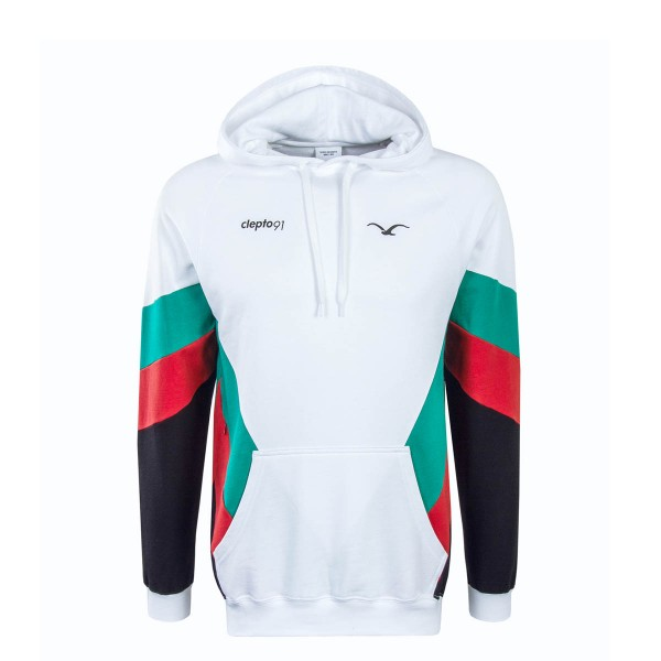 Clepto Hoody That 2 White Green Red