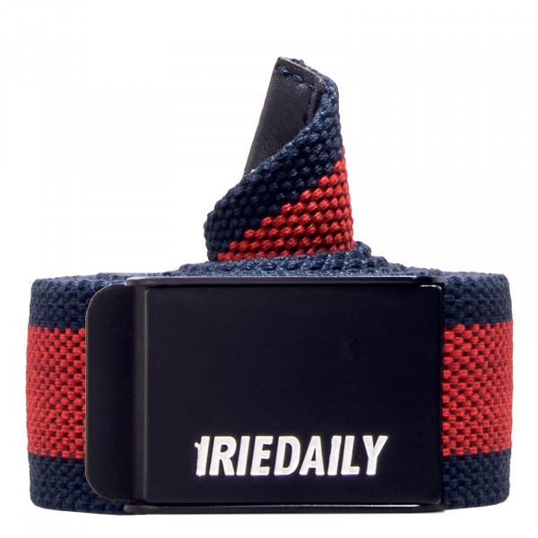 Iriedaily Belt Striped Navy Red