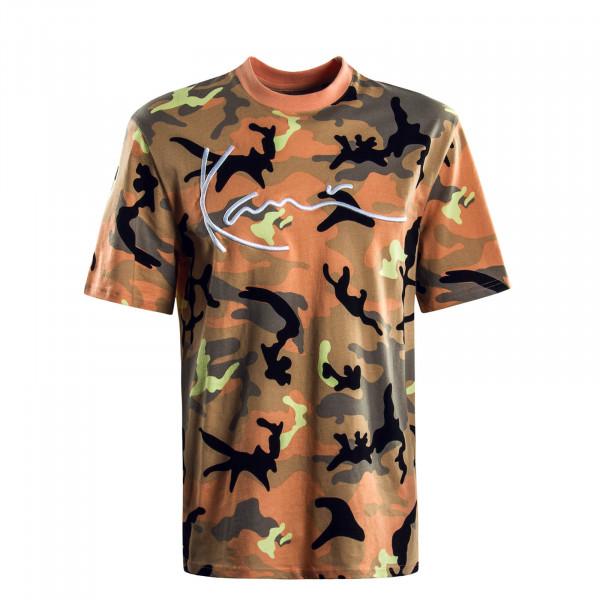 Herren T-Shirt  Signature Camouflage Orange Black