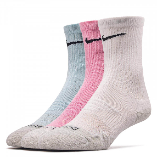 Nike Socks 3Pk Evry Max Cush Blue White Rosa