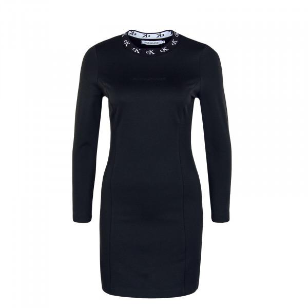 Damen Kleid CK Logo Trim Longsleeve Mila Black