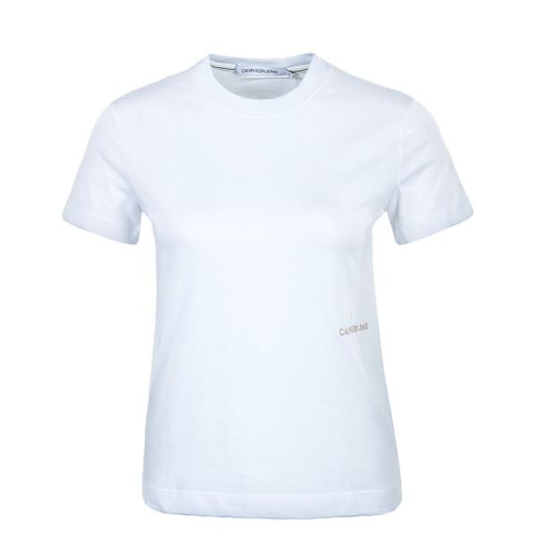 Damen T-Shirt - Off Placed Monogram 6469 - Bright White