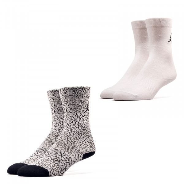 Nike Jordan Socks SX 5859 2er Pack White Black