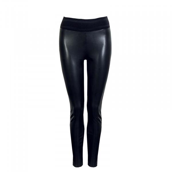 Damen Leggings - Star Faux Light Ela - Black