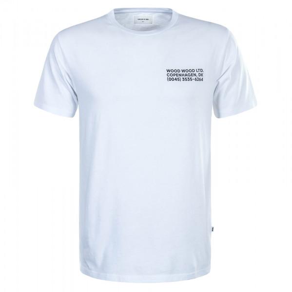 Herren T-Shirt Info White Black