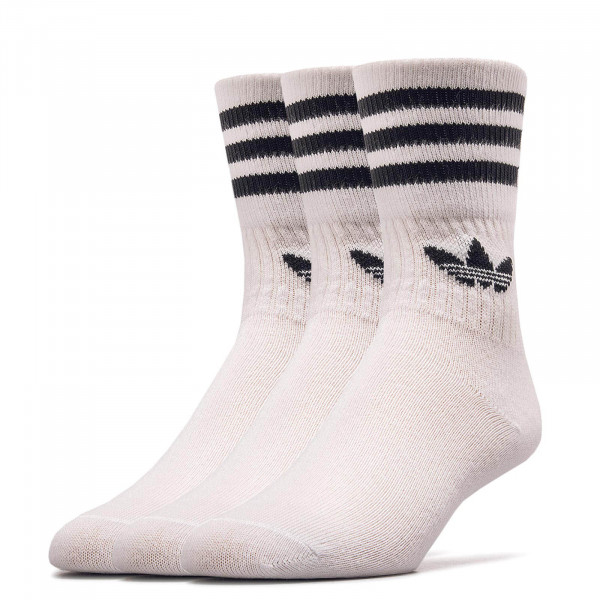 3er-Pack Socken Mid Cut CRW White Black