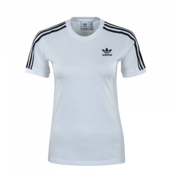 Damen T-Shirt - 3 Stripes - White