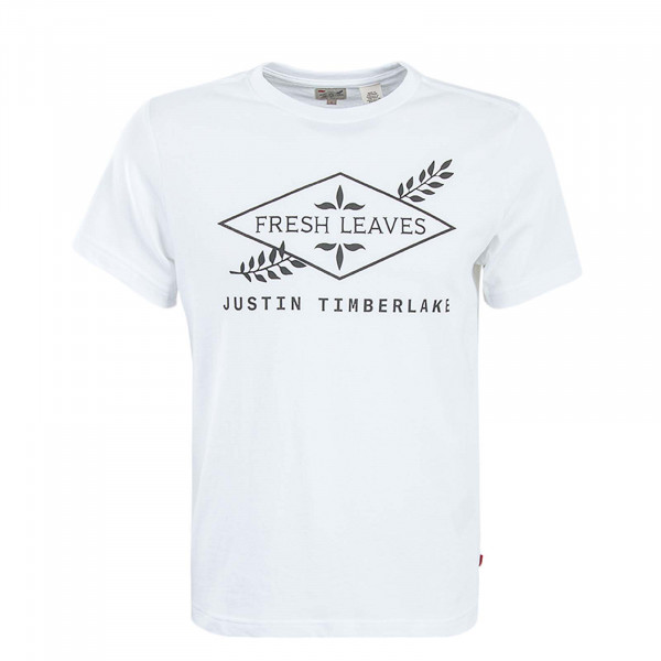 Levis T-Shirt Fresh Leaves Justin Timberlake White