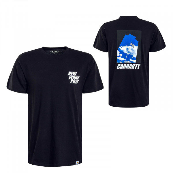 Herren T-Shirt Post Black