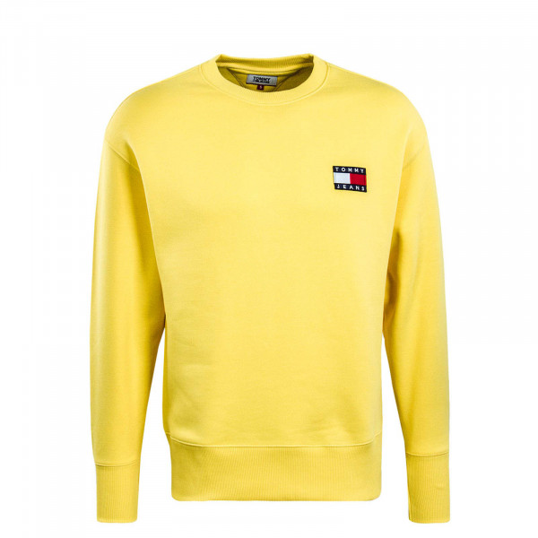 Herren Sweatshirt 6592 Badge Crew Aspen Gold