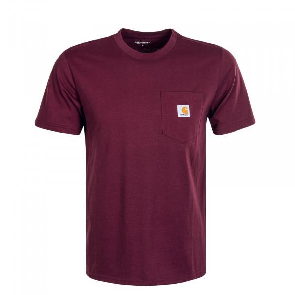 Herren T-Shirt Pocket Shiraz Bordeaux