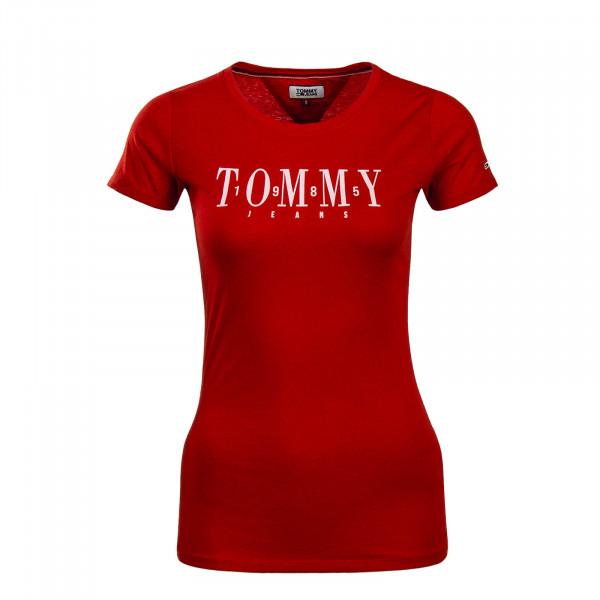 Tommy Wmn TS Casual Red White
