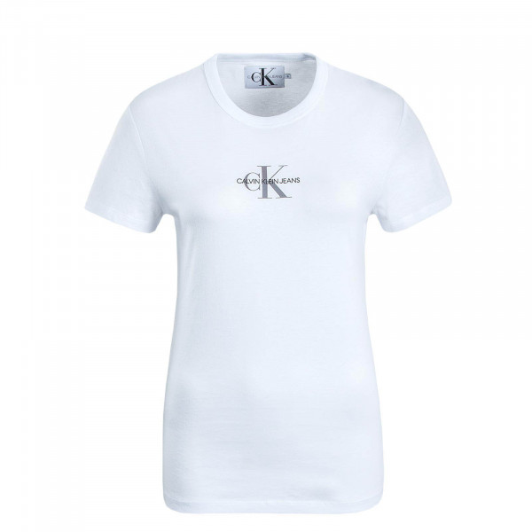 Damen T-Shirt Monogram Slim White