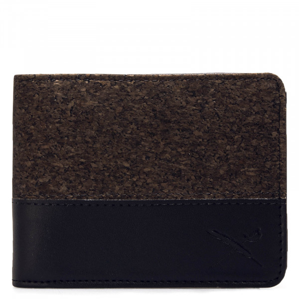Portemonnaie Cork On Cotton Mix Black