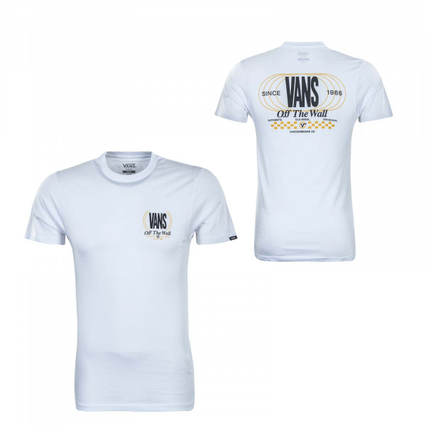 Herren T-Shirt - Frequency - White