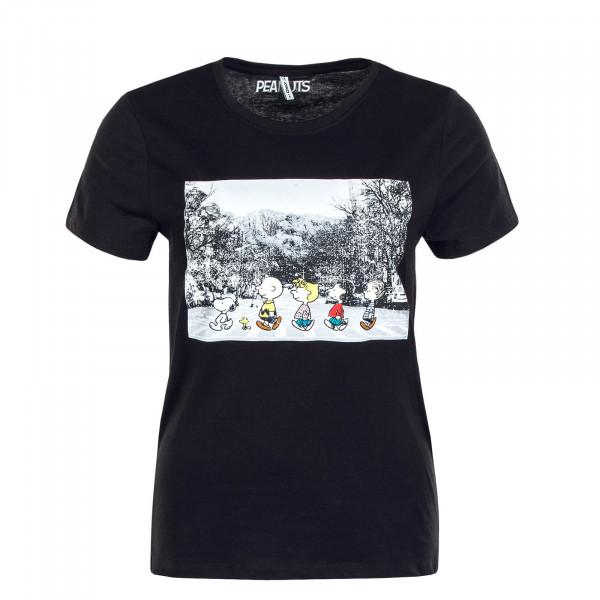 Damen T-Shirt Peanuts Life Reg Top Black