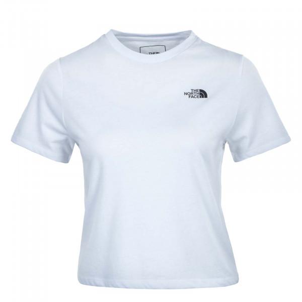 Damen T-Shirt - Foundation Crop - White / Heather