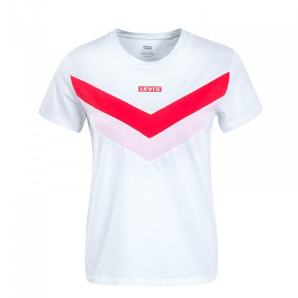 Damen T-Shirt Florence White Red Pink