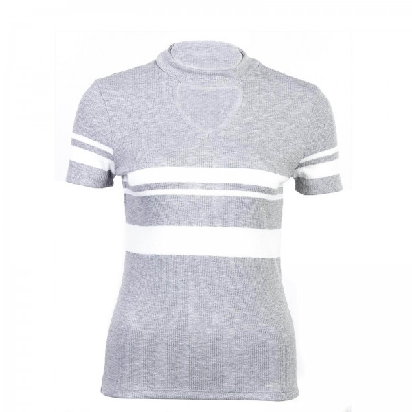 Only Knit TS Like Choker Stripe Grey