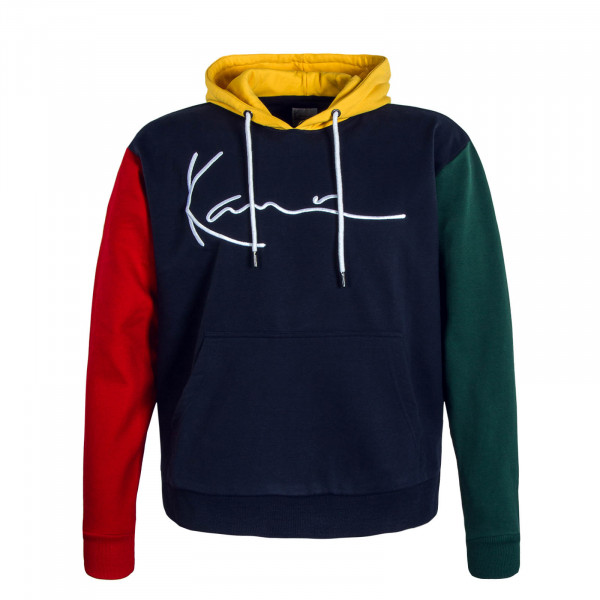 Herren Hoody Signature Navy Yellow