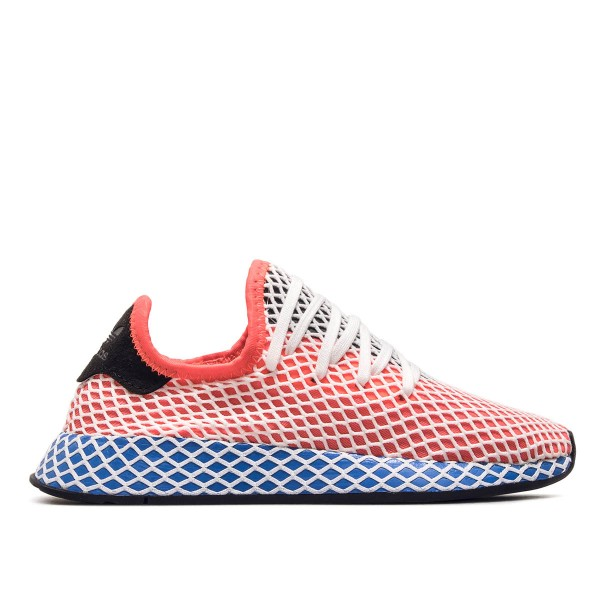 Adidas Wmn Deerupt Runner J Red Blue Whi