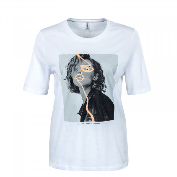 Damen T-Shirt - Fancy Life Boxy Face-  Bright / White / Print