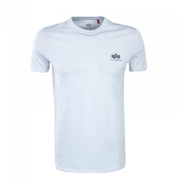 Herren T-Shirt Small Basic White