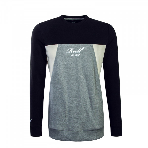 Herren Sweat Colorblock Black Grey Cream