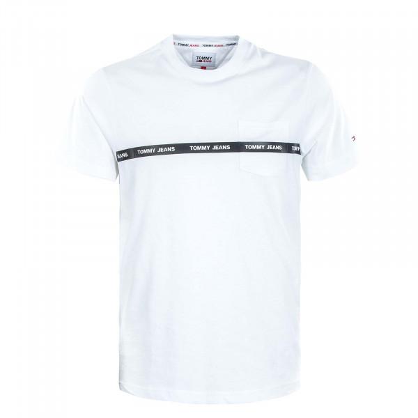 Herren T-Shirt - Branded Tape - White