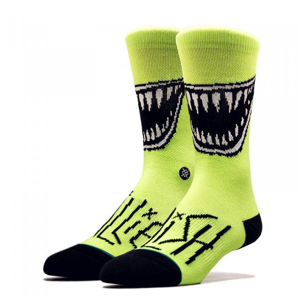 Unisex Socken Billie Eilish Grin Neon Green