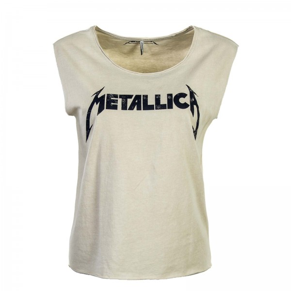 Only Top Metallica Beige
