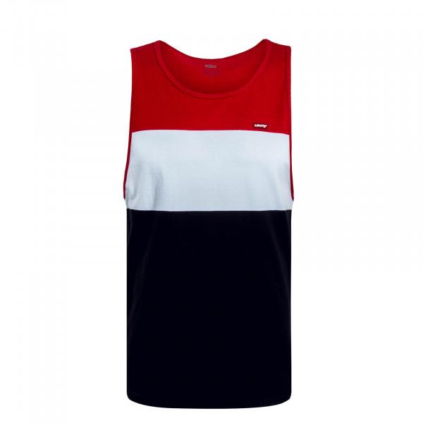 Herren Tank Classic Red White Black