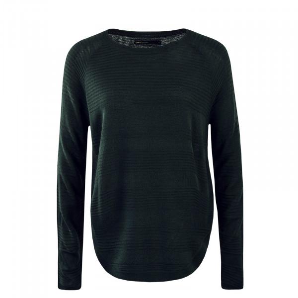 Damen Knit Sweatshirt Caviar Green