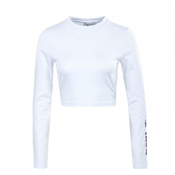 Damen Langarmshirt - Retro Cropped - White