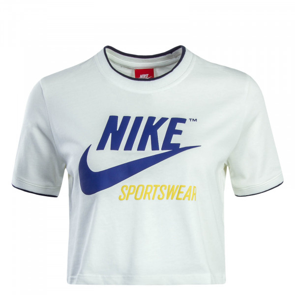 Nike Wmn Crop Top NSW Rib White Blue