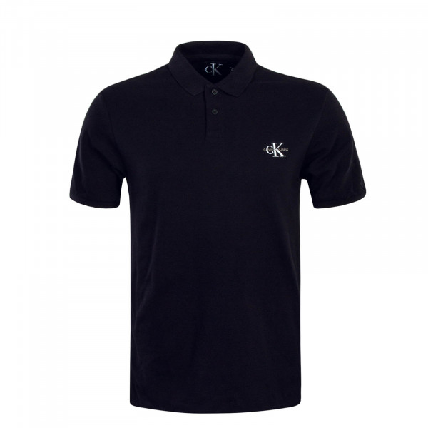 Poloshirt New Monogram Logo Black