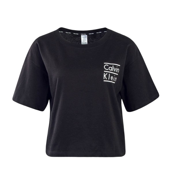 Calvin Klein Wmn TS Crew Neck BlackWhite