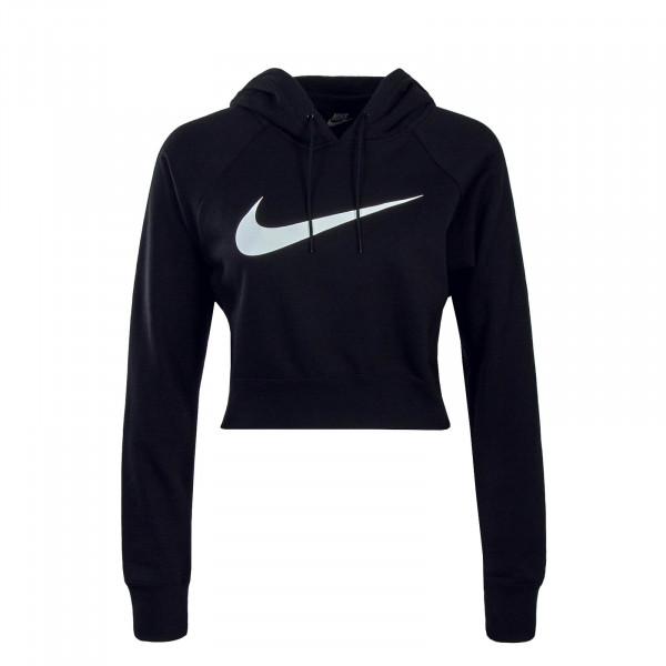 Nike Wmn Hoody Swoosh Crop Black White