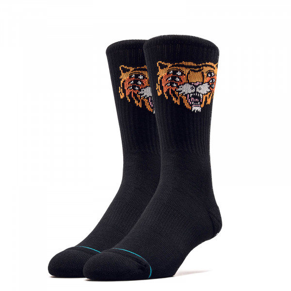Socken Cavolo Tiger Crew Black