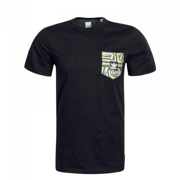Herren T-Shirt DAKARI Black Camouflage