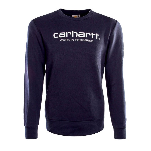 Carhartt Sweat Wip Script Navy White